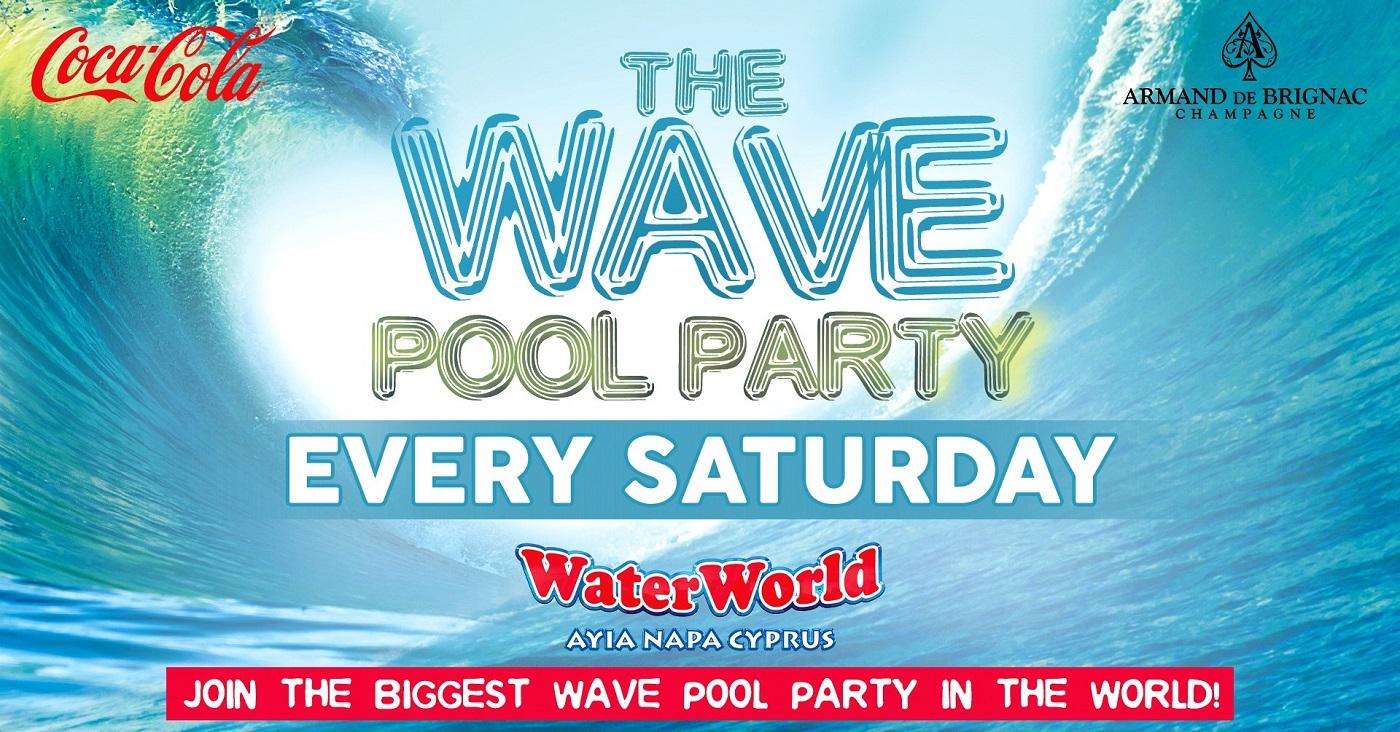 The Wave Pool Party Every Saturday at WaterWorld Ayia Napa Cyprus